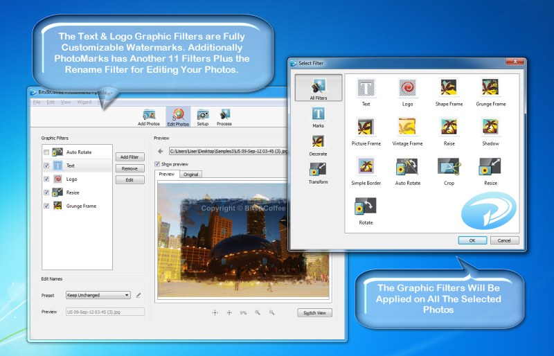 Windows 7 PhotoMarks - Batch Watermark Photos 1.0 full