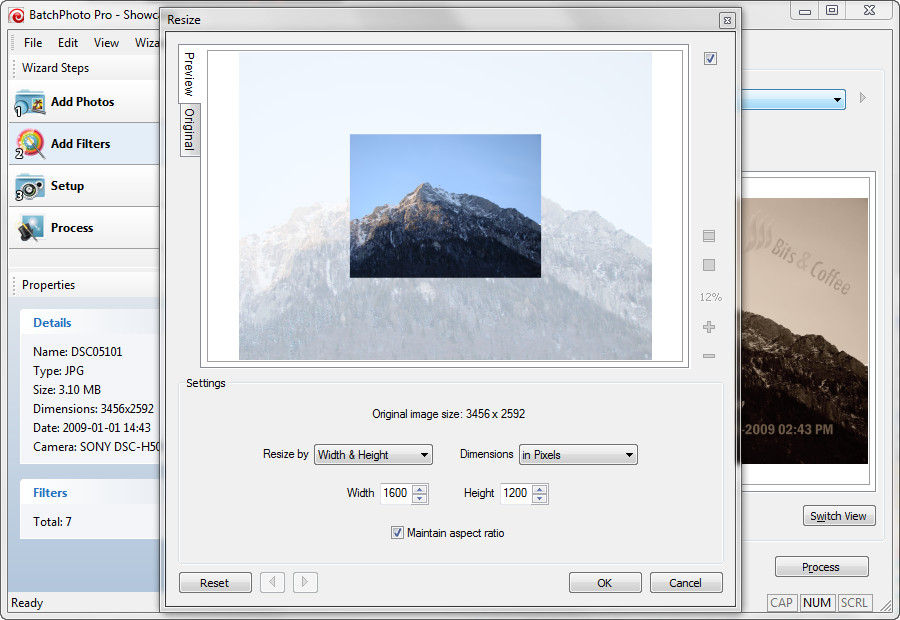 resize pictures with a picture shrinker